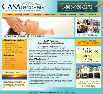 casa recovery designed by recovery marketing group